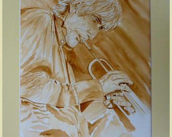 Portrait of Erik Truffaz jazz trumpeter