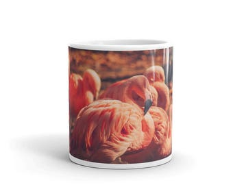 Mug - Red Silo Original Art - Pink Flamingos