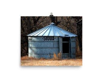 Photo paper poster - Red Silo Original Art - Sioux Bin