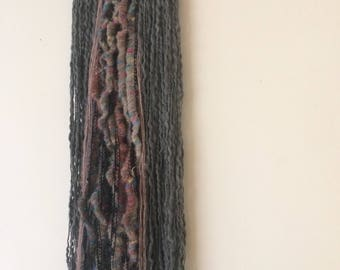 Handcrafted Warm colour tones Boho Wool Wallhanging