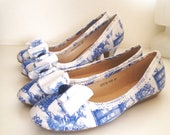 Dr who, toile fabric, traditional shoes, alice in wonderland, wedding set, matching shoes, something blue, low heel shoes,flat shoes, weddin