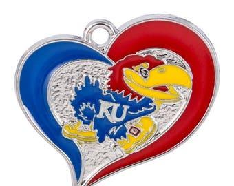 Kansas Jayhawks logo Charm-Qty:1
