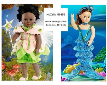 McCalls 6452- Sewing pattern for 18 Inch Doll Clothes- Fits American Girl Dolls