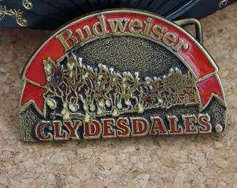 Budweiser Clydesdales 1970's Belt Buckle