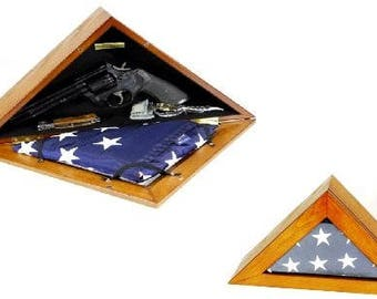 Presentation Flag Box 3 x 5 Magnetic Front for Easy Access Concealment
