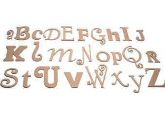 Unpainted Alphabet Set