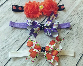 3 PC Fall Baby Headbands - 6/12 Months