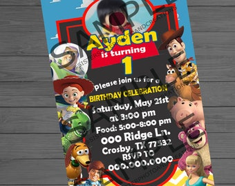 Toy Story Birthday Party Invitation, Toy Story Party, 4x6 Invitation