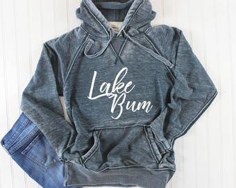 Lake Bum Sweatshirt, Lake Shirt, Vintage Sweatshirt, Lightweight Hoodie, Summer Sweatshirt, Summer Hoodie, Beach Shirt Distressed Sweatshirt