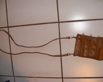 3 zipper shoulder bag