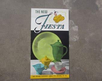 The New Fiesta Ware Price Guide 1957, Vintage Fiestaware Brochure and Price Guide, Fiestaware Collectible, 1957 Fiestaware Price Catalog