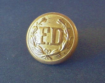 Antique Fire Department Uniform Button 1860-1890