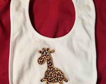 Giraffe Bib - Giraffe - Giraffe Infant Bib - Giraffe Nursery - Infant Bib - Jungle Bib - New Baby Gift - Baby Shower - Baby Shower Gift -Bib