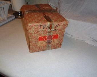 Original box to a early 1950s Steiff Kipper 135/4917 Teddy bear from Germany