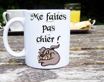 Dog humor mug, make me shit! Classic or magic, humour, gift, Tea Cup, coffee mug
