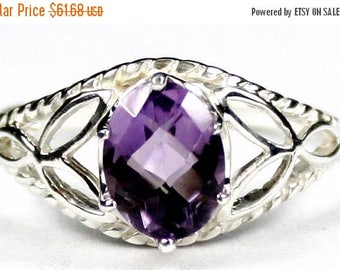 On Sale, 20% Off, Amethyst, 925 Sterling Silver Ring, SR137