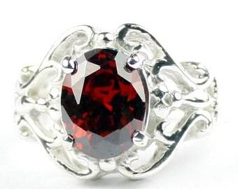 On Sale, 30% Off, Garnet CZ, 925 Sterling Silver Ladies Rings, SR169