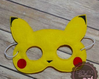 Felt Mask - Pikachu inspired