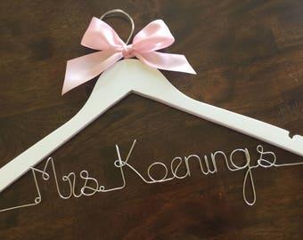 Wedding Hanger Personalized Dress Bride