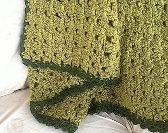 "Apple Green Afghan 47""X65"""