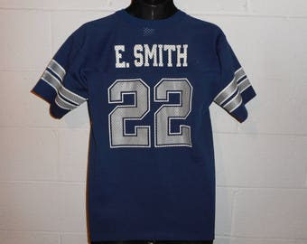 Vintage 90s Dallas Cowboys Emmitt Smith #22 Jersey Youth XL