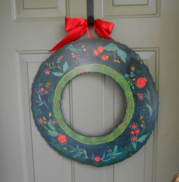 Front door wreath, fall wreath, year round wreath, pomegranate wreath, wreaths for fall, front porch decor, farmhouse wreath, wood wreath
