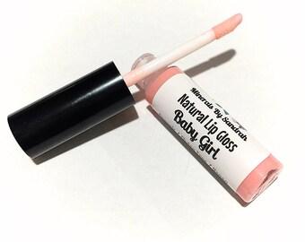 BABY GIRL Natural Organic Lip Gloss - Gluten Free Vegan Makeup - Botanical Plant Infused Lip Glaze