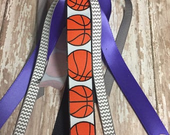 Basketball Streamers, Basketball Ribbons, Ponytail Streamers, Pick your Colors