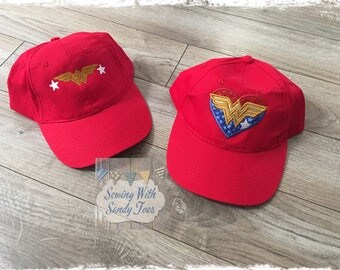 Wonder Woman Hat, Wonder Woman, Wonder Woman Cap, Wonder Woman Costume, Hat, DC Comics, Super Hero, superhero, superhero hat, Cosplay,