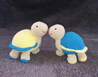 Crochet turtle duo