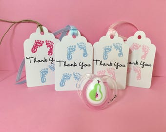 Twin baby shower tags, Twin thank you tags, Twin baby shower gift tags, Twin favor tags, Set of 12, Twin girls tags, Twin boys tags