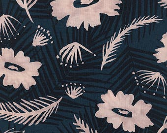 Palm Springs Bouquet in Blue (Rayon Fabric) by Melody Miller and Alexia Abegg from the Poolside collection for Cotton and Steel