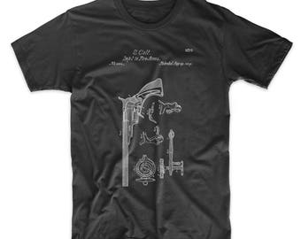 Colt Paterson Patent T Shirt, Pistol, Gun Gifts, Revolver, Gun Shirt, PP0409