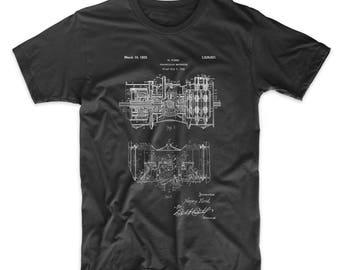 Railcar Transmission Gearing 1925 Patent T Shirt, Henry Ford, Car Part Shirt, Mechanical Engineer, Mechanic Gift, Garage Shirt, PP0847