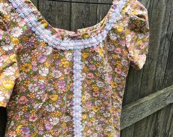 Darling Floral Mod 60's/70's Shift Dress