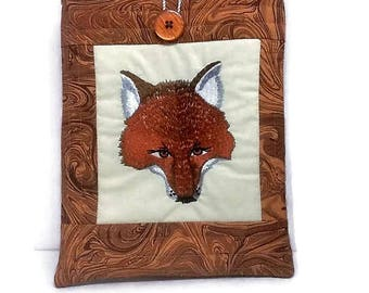 Fox gifts, Ipad mini sleeve, gadget case, e reader, apple ipad 2 cases, foxes fabric covers for tablets, padded cover, kindle fire pouch