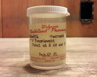 1960s era Walgreen's Antique Medicine Bottle