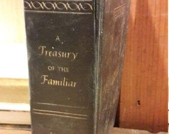 A Treasury the Familiar - Vintage Antique Books - Literature - 1960s - Folk Tales and Songs