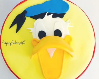 Fondant Donald Duck Cake Topper