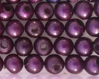 25 round beads 4mm plum purple magical miracles
