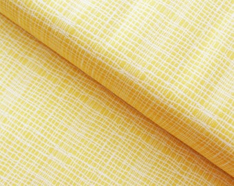 Jane Makower 'Discounted' Inprint Yellow Check Toner Patchwork Quilting Dressmaking Fabric