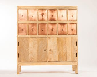 Furniture design copper wood