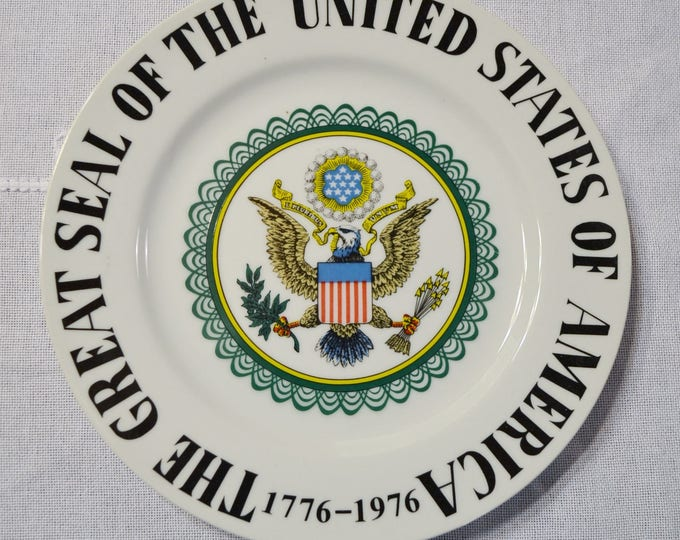 Vintage Decorative Plate United States Bicentennial The Great Seal 1776-1976 Patriotic Wall Decor PanchosPorch