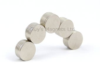 10mm x 1mm strong N52 neodymium round circular disk magnets ideal for magnetic card closures GuysMagnets