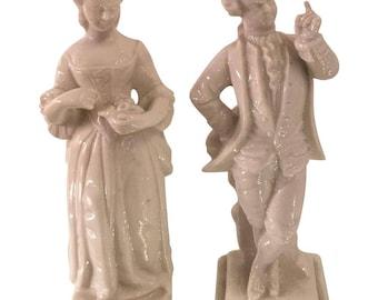 Superb Pair of Antique Nymphenburg Porcelain Figures - Mozart