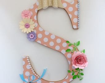 Decorated MDF Letters for Nursery, Home or Business