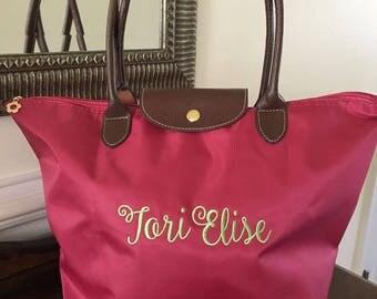 Custom Tote Bags Wedding - Designer Tote - Classic Handbag - Vacation Tote Bag - Preppy Monogram Tote - New Mom Bag - Monogram Tote Bag