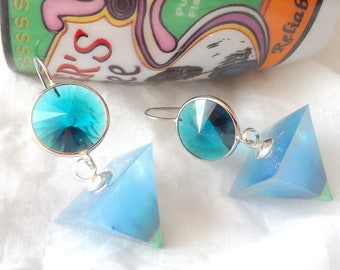 "Earrings ""blue color"""