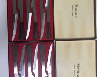 Mid century steak knives set of 12