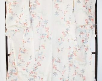 Japanese kimono - kimono robe - vintage kimono - Kimono Dress - woman's kimono - Boho kimono - japan kimono - glitter kimono - white kimono